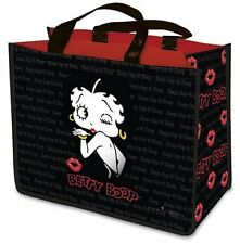 Shopping Bag, Betty Boop Black, Reusable Shopping Bag, Large and Strong.