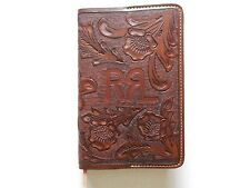 New Ralph Lauren RRL Mexico Tooled Leather Cover Large Notebook Diary Journal