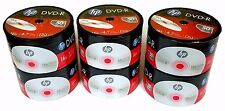 300 HP Blank DVD-R DVDR Logo Branded 4.7GB 16X Media Disc FREE 100 PAPER SLEEVES