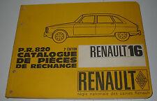 Ersatzteilkatalog Renault R 16 / R16 Catalogue De Pieces De Rechange 10/1966!