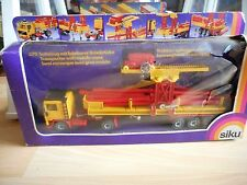 Siku Volvo F10 + Trailer + Mobile Crane in Yellow/Red in Box (Siku nr: 3711)