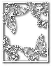"""MEMORY BOX 99343 """"Drifting Butterfly Frame"""" 100% Steel Craft Die  Size 4.25x5.5"""""""