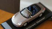 one 1:43 PORSCHE 911 Carrera 996 Cabrio MINICHAMPS convertible grey silver 4 s