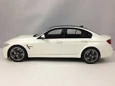 GT Spirit BMW M3 F80 Sedan / Saloon White Resin Car Model 1/18 L.E 504 Units