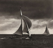1936 Vintage OLYMPICS Germany SAILING Yacht Boat Race Photo Art 11x14 PAUL WOLFF