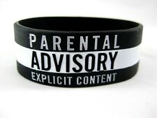 New 2 Piece Set of Black & White Silicone Bracelets as Pictured