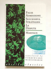 False Admissions; Successful Strategies; La Dispute; 3 plays by Marivaux - NEW