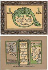 Germany 1 Mark 1920 Notgeld Langen UNC Banknote - Dragon
