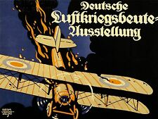 ART PRINT POSTER ADVERT EVENT AIR WAR BOOTY BIPLANE BRITISH GERMANY WWI NOFL1607