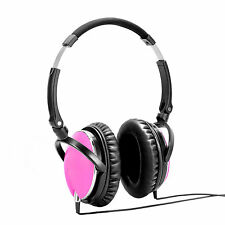 Active Noise Cancelling Stereo Headset for Smartphone (Colour: Pink)