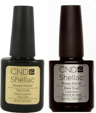 CND Shellac Set UV Top & Base Coat Power Polish 0.5/0.42 fl oz 15/12.5ml