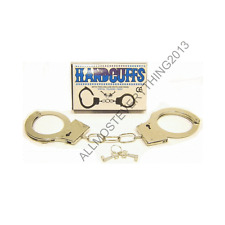 BRAND NEW BOXED METAL HANDCUFFS KEY KIDS BOYS GIRLS SUMMER PLAY TOY POLICE ROLE