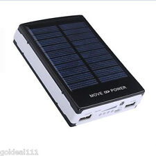 30000 mAh Travel Solar Battery Charger Dual USB Power Bank For Cell Phones