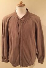 RARE VTG BALLY OF SWITZERLAND LIGHT BOMBER CAR BROWN SUEDE LEATHER JACKET SZ 46