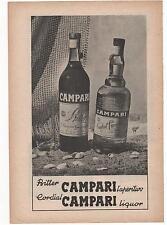 Pubblicità vintage CAMPARI CORDIAL LIQUOR old advert reklame werbung publicitè