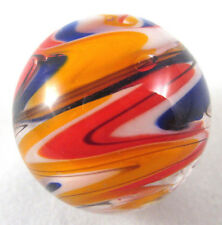 "25mm WURLITZER Handmade art glass red blue design Marbles ball Large 1"" SHOOTER"