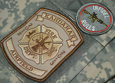 KANDAHAR AIRFIELD POLO CLUB FIRE DEPT CRASH/RESCUE 2012-13 VELCRO INFIDEL PATCH