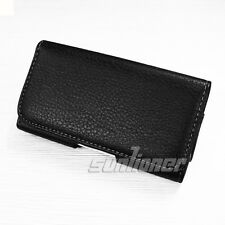 Sumsung Galaxy Express GT-I8730 Pouch Holster Leather Case Cover with Belt Clip