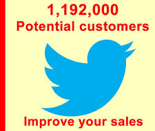 Twitter tweet advertising to 1,192,000 Real People, Boost sales traffic & seo