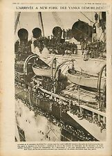 Soldiers US Army Steamers Mauretania Port New-York/Allied occupation 1919 WWI