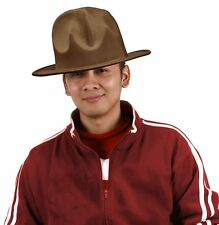 Happy Hat Costume Pharrel Williams Style Brown Mountain Ranger Rapper Hip Hop