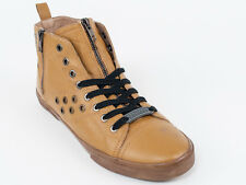 New  Galliano Yellow Leather Sport Shoes Size 42 US 9 Retail $440