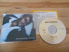 CD Pop Marc Anthony - I Need You (1 Song) Promo COLUMBIA Presskit