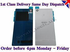 New Sony Xperia Z2 Battery back Cover Panel Rear Glass with Adhesive White