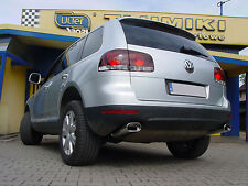 Chrom Look Auspuffblende Endrohre Duplex VW TOUAREG - Top Optik
