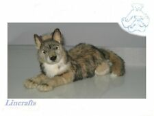 Lying Wolf Plush Soft Toy by Hansa. 4293