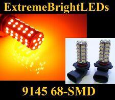 TWO Orange AMBER 9145 H10 9140 9005 68-SMD LED Fog Lights