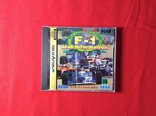 Used Sega Saturn F-1 Live Information Box JP import Japan