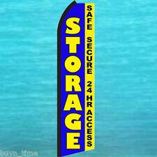 STORAGE Safe Secure 24 Hr FLUTTER FEATHER FLAG Swooper Advertising Sign Banner
