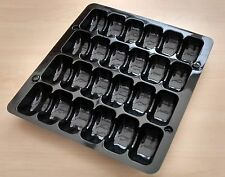 BLACK DISPLAY TRAY PACKAGING CONTAINER 24 FRENCH MACAROONS MACARONS pack of 10