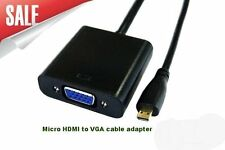 Micro HDMI Type D Male To VGA Female Converter Adapter Cable For Laptop PC LCD