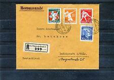 Schweiz mit Michel Nr. 262-265 auf Einschreiben - b0625