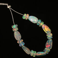 4.20 TCW  NATURAL ETHIOPIAN  WELO FIRE OPAL ROUNDLE BEADS WITH TUMBLE 2006