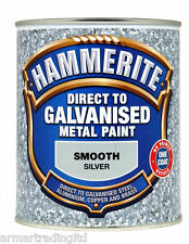 Hammerite Direct To Galvanised Metal Paint 750ml Smoth Black Green Silver White
