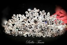 High end Swarovski crystal wedding tiara bridal or quinceaniera crown wholesale