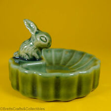 Wade Whimsies (1955/59) Whimtray/PinTray Series (Green Dish) Rabbit Butter Dish