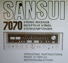 Sansui 7070 st receiver operating instructions inc avec diagnostics liés eng fran deut