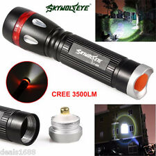 Zoomable 3500 Lumens 3 Modes CREE XML T6 LED Flashlight Torch Lamp Light 18650