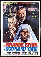 LA GRANDE SFIDA A SCOTLAND YARD MANIFESTO CINEMA WALLACE GIALLO MOVIE POSTER 4F