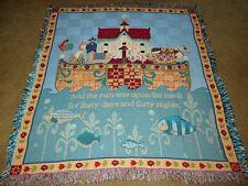 Jim Shore Noah's Ark Tapestry Afghan Throw