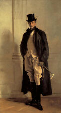 """Oil painting John Singer Sargent - Male portrait Lord Ribblesdale Horsewhip 36"""""""