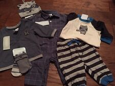 NWT Gymboree Baby Boy Raccoon 7/piece Layette Outfit SET Jacket Hat Romper 3 6
