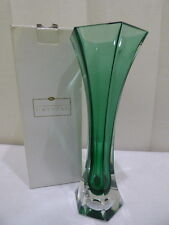 ITALIAN Emerald Crystal ROYAL GALLERY VASE Made in Italy