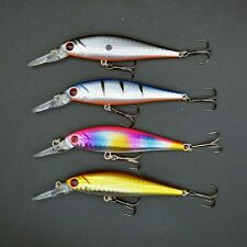 Lot 4pcs Minnow Sinking Dive Fishing Lures CrankBait Bait Bass Tackle 10cm/9.35g