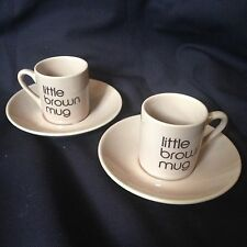 Bloomingdale's Little Brown Mug Espresso Cup & Saucer Set Demitasse 2 avail BIA