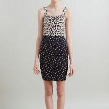 Dolce & Gabbana Leopard and Star Print Silk Bustier Dress - Size 38